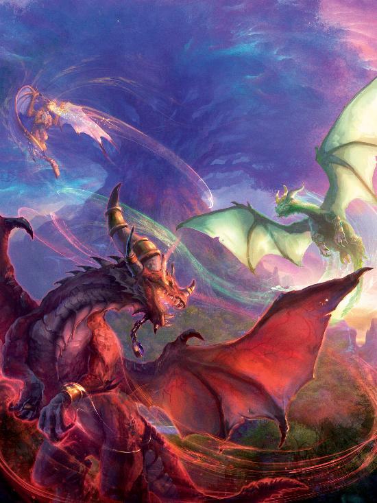 Благословление драконами-аспектами Нордрассила