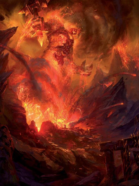 Туриссан призывает Рагнароса Повелителя Огня